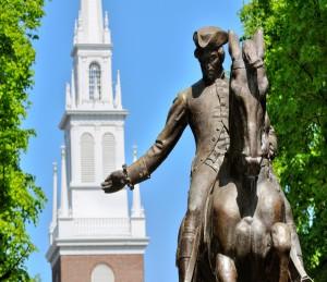 Paul Revere statue Boston sutter 1